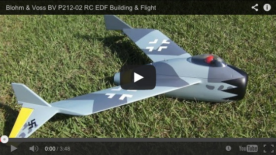 Blohm & Voss BV P212-02 RC EDF Building & Flight